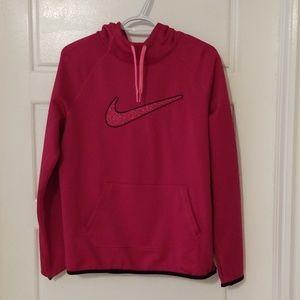 NIKE- Pink therama-fit hoodie